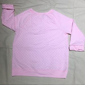 Sonoma Shirts & Tops - Polka Dotted Pink Sweater